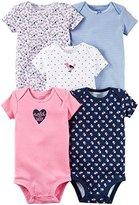 Carter's Baby Girls 5 pc Multi-Pack Bodysuits 126g330