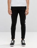 Cheap Monday Jeans Dropped Tapered Fit In New Black
