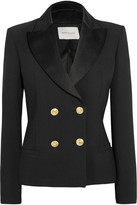 Pierre Balmain Double-breasted Crepe Blazer - Black