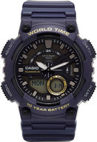 G-Shock G SHOCK Mens Blue 3D Dial Heavy Duty Strap Watch AEQ110W-1AV
