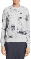 Comme des Garcons Women's Dyed Fleece Cutout Sweatshirt