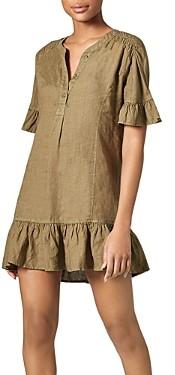 Joie Brandt Linen Ruffled Dress