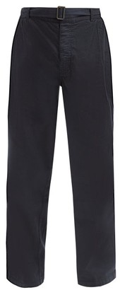 Raey Wide-leg Cotton Chino Trousers - Navy