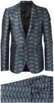 Les Hommes jacquard dinner suit