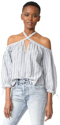 Rebecca Taylor Women's Os Yd Stripe Top