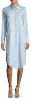 Finders Keepers Renzo Cotton Side Split Shirt Dress