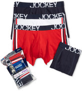Jockey Men's 3 Pack + 1 Bonus Active Stretch Boxer Briefs