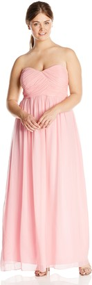 Donna Morgan Women's Plus-Size Strapless Lauren Dress