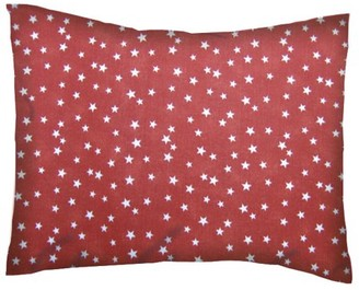 Sheetworld Twin Pillow Case - Percale Pillow Cases - Cloudy Stars Rust