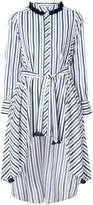 Figue pompom-embellished striped belted shirt