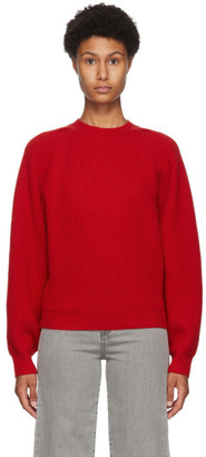 Isabel Marant Red Cashmere and Wool Billie Sweater