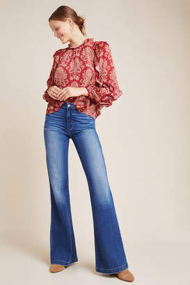 Paige Genevieve High-Rise Flare Jeans
