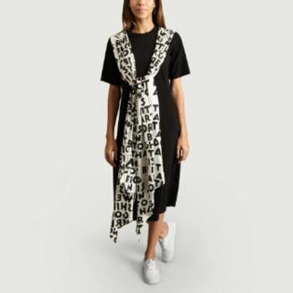 Maison Margiela Black Printed Panel Dress - xs | cotton | black - Black/Black