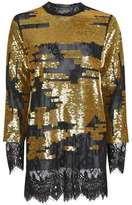Topshop Patched sequin long line tunic