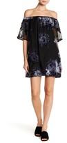 As U Wish Off-the-Shoulder Burnout Mini Dress