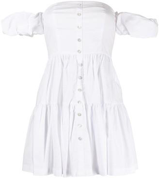 STAUD Elio off-shoulder mini dress