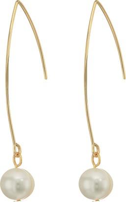 Kenneth Jay Lane Gold/White Fresh Water Pearl Ear Earrings Gold/White One Size