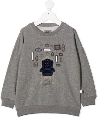 Il Gufo Embroidered Crew-Neck Sweatshirt