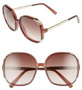 Chloé Women's Myrte 61Mm Gradient Lens Square Sunglasses - Brown