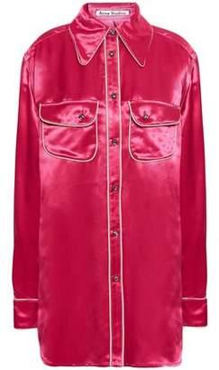 Acne Studios Crystal-embellished Satin-crepe Shirt