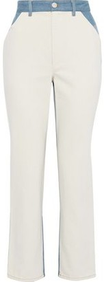 Sea Color-block High-rise Straight-leg Jeans