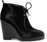 Michael Kors Beth calf hair wedge ankle boots