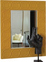 Global Views Arabesque Trapunto Mirror-Mustard