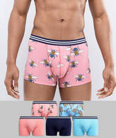 Asos Trunks With Tigers & Bees Print 5 Pack