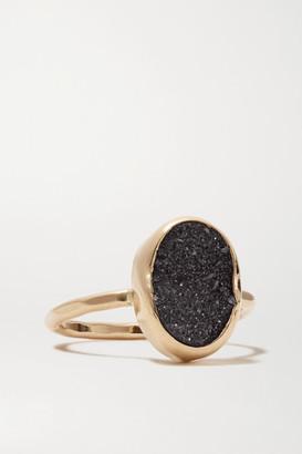 Melissa Joy Manning 14-karat Gold Druzy Ring