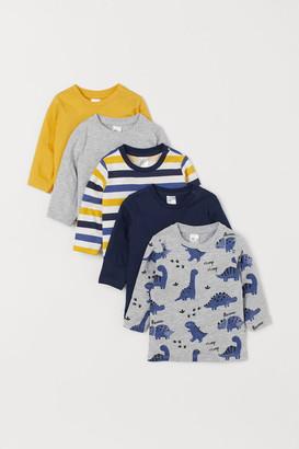 H&M 5-pack Cotton Shirts - Yellow