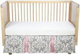 New Arrivals Inc. New Arrivals Stella Gray Crib Bumper-White & Pink