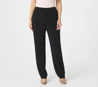 Susan Graver Every Day by Petite Liquid Knit Pull-On Pants