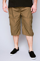Yours Clothing D555 Sand Cargo Shorts With Pockets