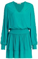 Ramy Brook Starling Embellished-Sleeve Dress