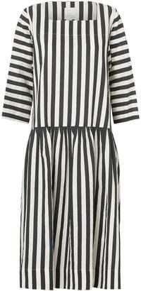 Mcverdi Loose Striped Dress With A Low Cut