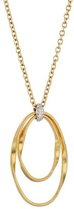 Marco Bicego Marrakech Onde 18K Yellow Gold & Diamond Small Coil Pendant Necklace