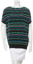 M Missoni Patterned Short Sleeve Top w/ Tags