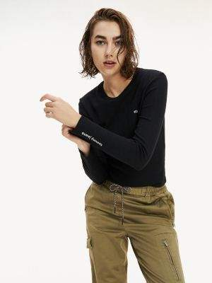 Tommy Hilfiger Pointelle Long Sleeve T-Shirt