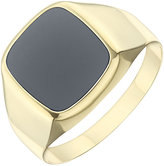 Ernest Jones 9ct Yellow Gold Cushion Onyx Ring