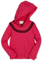 Gucci Hooded Felted Jersey Sweatshirt, Size 4-12