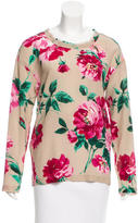 Dolce & Gabbana Silk Floral Print Top
