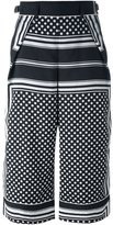 Sacai scarf print culottes - women - Polyester/Cupro - 2
