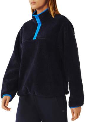 Tory Sport Sherpa Fleece Snap Front Jacket