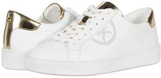 MICHAEL Michael Kors Keaton Lace Up (Optic/Pale Gold) Women's Lace up casual Shoes