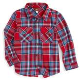 Tea Collection Oi Plaid Flannel Shirt (Toddler Boys & Little Boys)