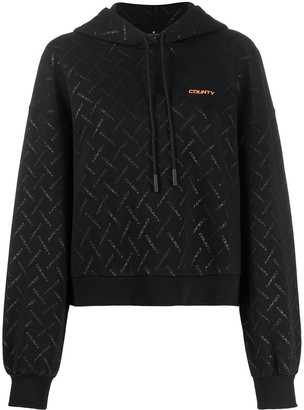 Marcelo Burlon County of Milan All-Over Logo Print Hoodie