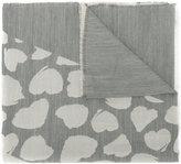 Twin-Set heart print raw edge scarf