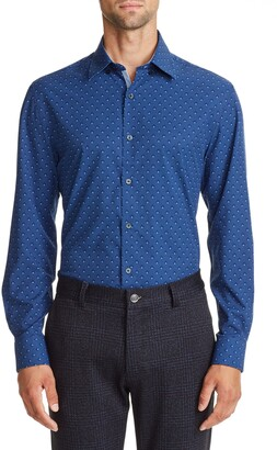 Work Rest Karma Geo Print Performance Stretch Dress Shirt