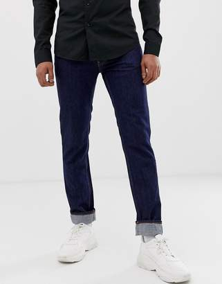 Love Moschino regular fit jeans with taped back pockets-Blue