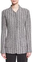 St. John Windsor Knit Jacket w/ Patch Pockets, Hematite Multi